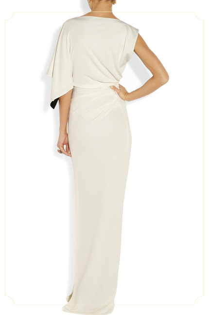 VIONNET - Draped jersey-crepe gown