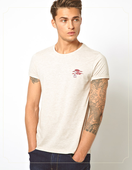 ASOS T-Shirt With Embroidered Chest Motif